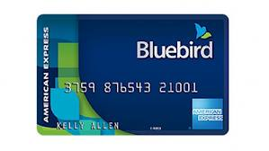 The Bluebird card can help you meet minimum spending requirements