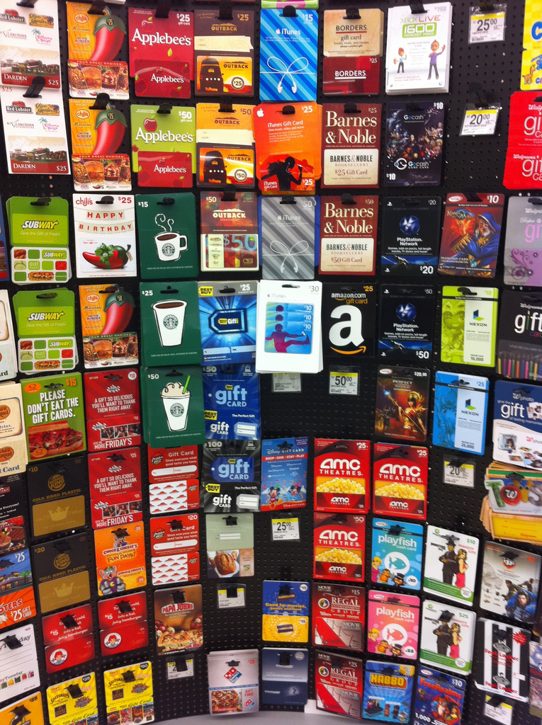 Gift cards are an easy way to meet spending requirements