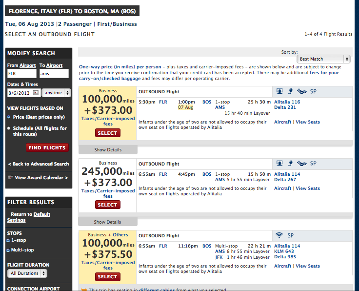 This page shows there's a flight back to the States on 8/7, but is it worth an overnight layover?