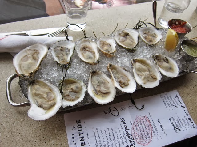 Maine oysters - nice