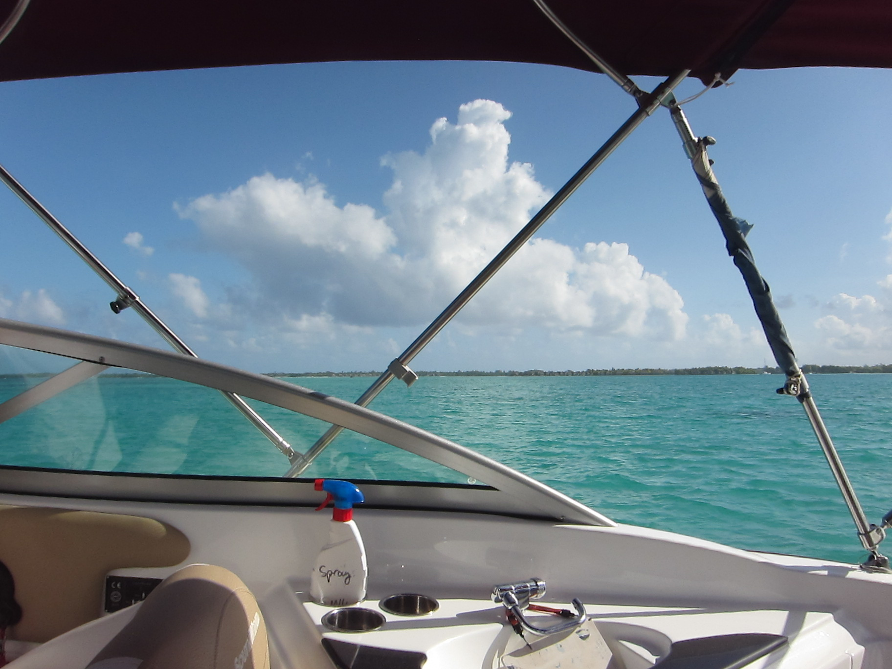 View from our boat