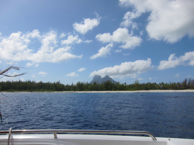 View of Mount Otemanu from the outer reef