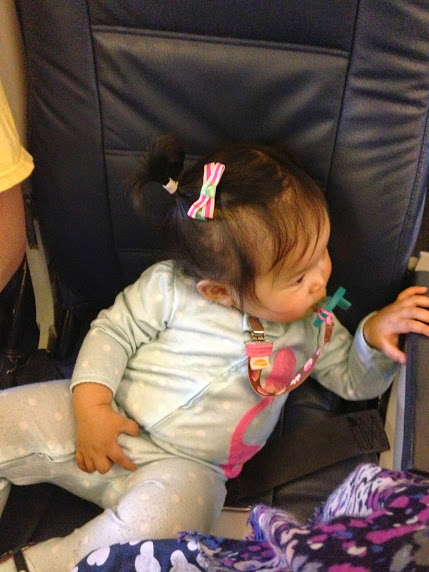 If only the whole flight had been like this...alas...lap infant.