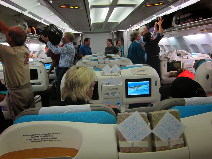 The new cabin looks more spacious due to the removal of some overhead bins