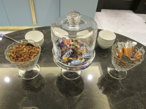 If you give your kids candy, the executive lounge is pretty useful