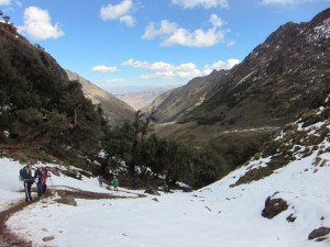 The weather's a lot cooler in Peru
