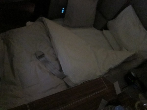 The flight attendants will of course make your bed for you