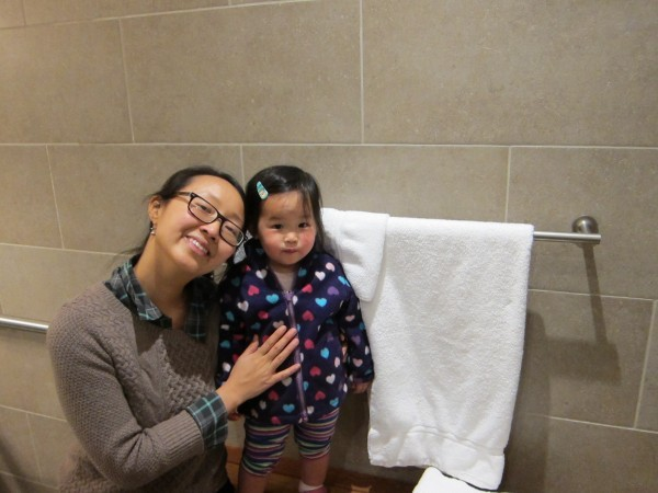 A quick shower at the Admiral's club before our flight