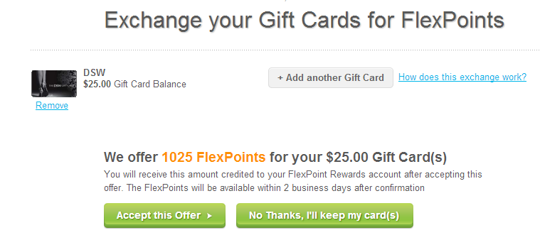Gift card churning plastic jungle arbitrage chasing the points the worth per gift card dswpjflexperks colourmoves Images