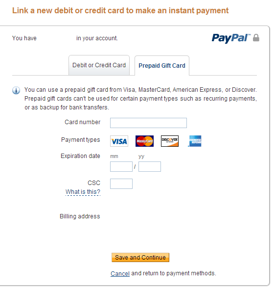 Does paypal accept prepaid cards