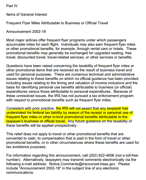 Taxable nature of rewards saverocity finance 2002 rules on frequent flyer miles reheart Image collections