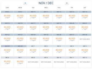 5 seats were available every day BNE-LAX, only  remain on the 28th.