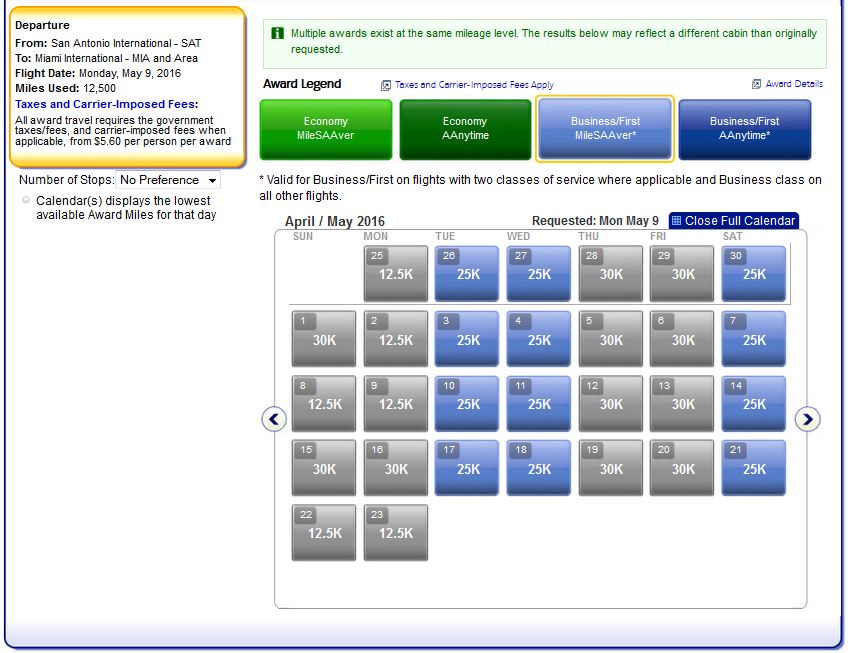 SAT-MIA on AA only. Either nonstop or via DFW.