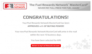 fuel rewards credit card approval