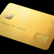 Old and busted: titanium credit cards. New hotness: solid gold credit cards.