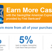SavingStar Amex credit card: the poor man's Upromise card?