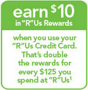 8% back with the Toys R Us credit card!