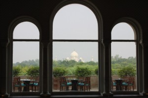 View of Taj Mahal from Tea lounge