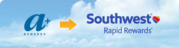 Airtran's A+ Rewards are integrating with Southwest Rapid Rewards. Courtesy of Airtran and Southwest.