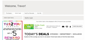 Kohl's Account - My Kohl's Cash.