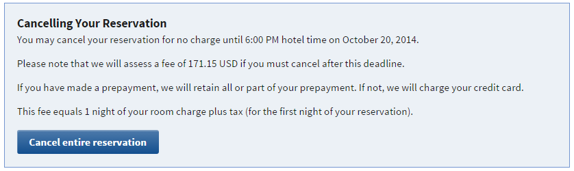 Marriott's current cancellation policy.