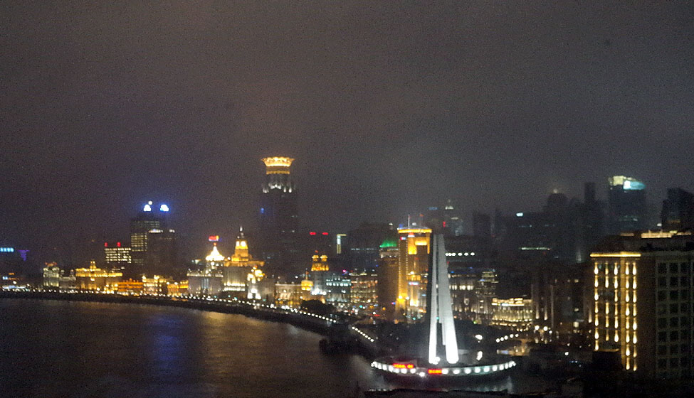The Bund at night (view from the room).