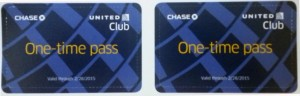 Pair of United Club Passes