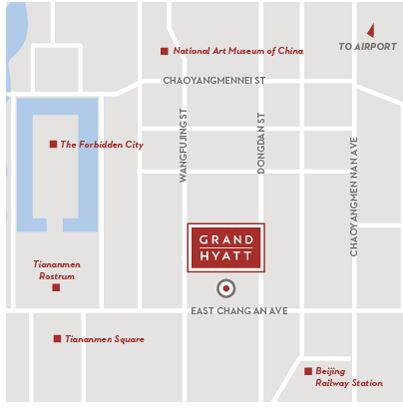 Location of the Hyatt