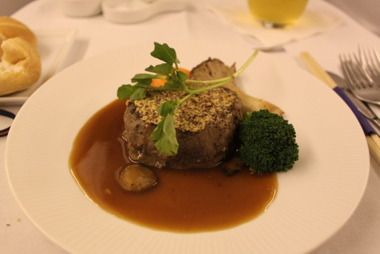 Fillet of Beef in All Nippon business class.