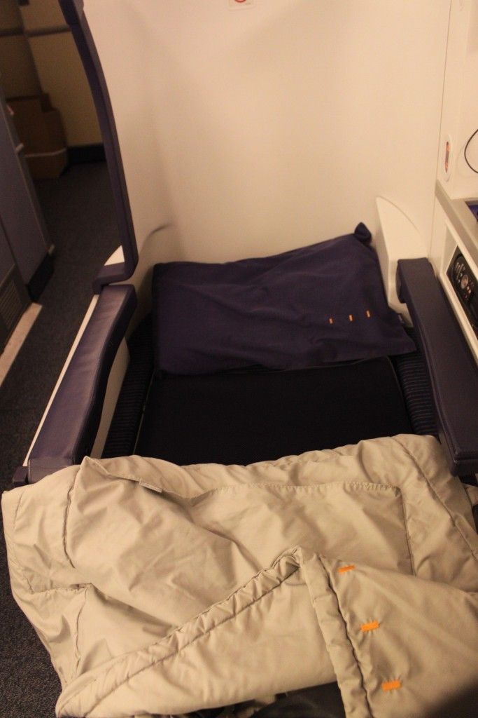 All Nippon Business Class bed.