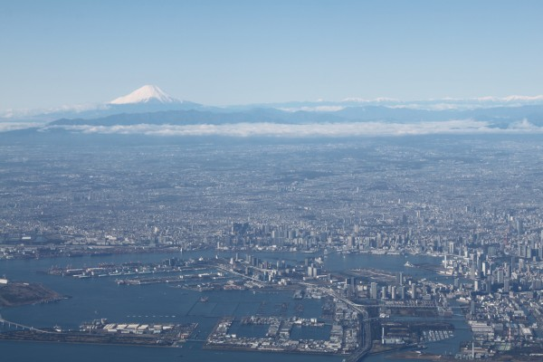 Mt Fuji in the background