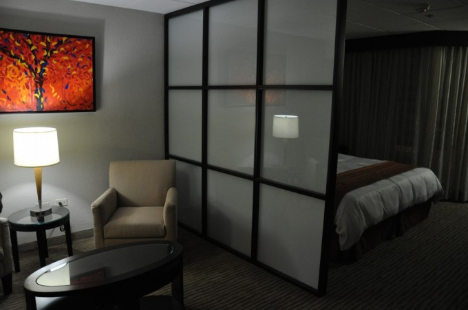 Our newly renovated room at the Radisson