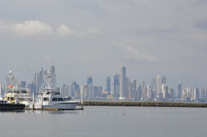 View of Panama City from Flamenco Island