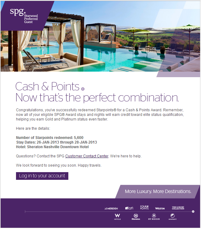 spg cash and points