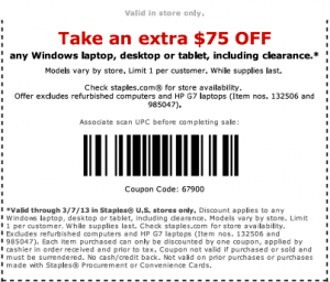 Staples Coupons & Promo Codes