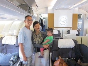 Bavarian Summer: Lufthansa First Class with a Toddler