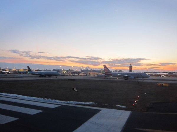 I find airports the most peaceful at dusk