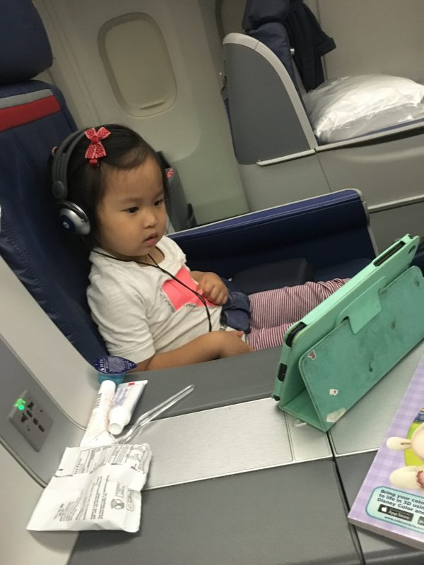 I'm convinced screen time is half the reason she flies