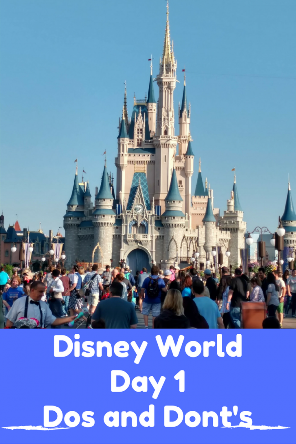 A tongue in cheek Day 1 Disney World Dos and Don'ts list bred from personal experience