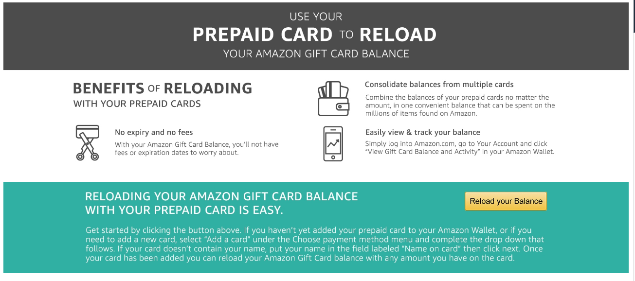 Load prepaid gift cards to Amazon to get rid of small balances ...