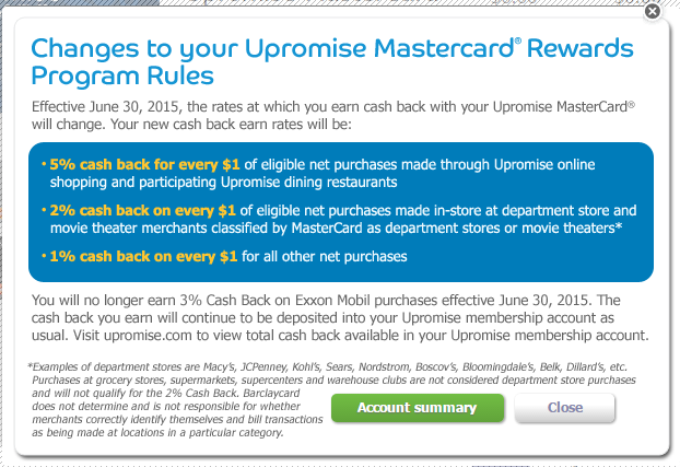 Mobil Gas Card >> Barclay's Upromise Changes Their Bonus Structure Again - Chasing The Points