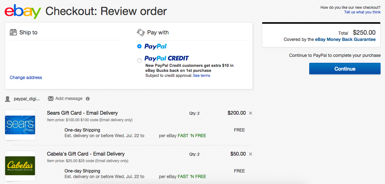 PayPal Digital Gifts Order Failure Solved - Chasing The Points