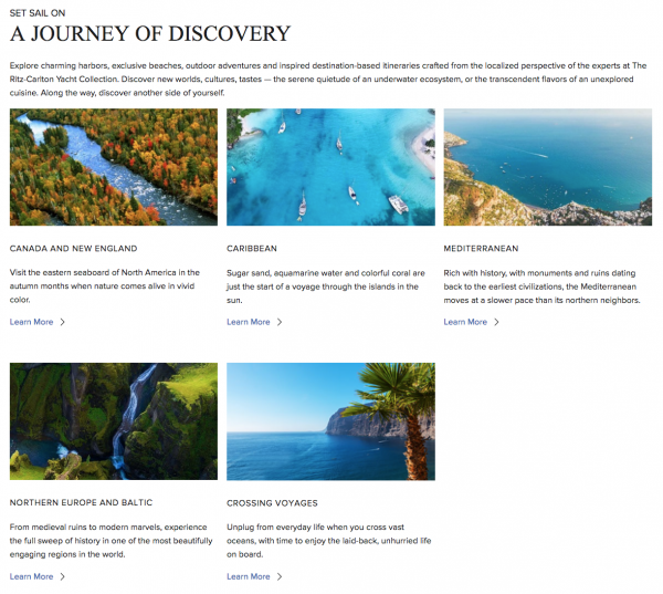 ritz carlton cruise destinations