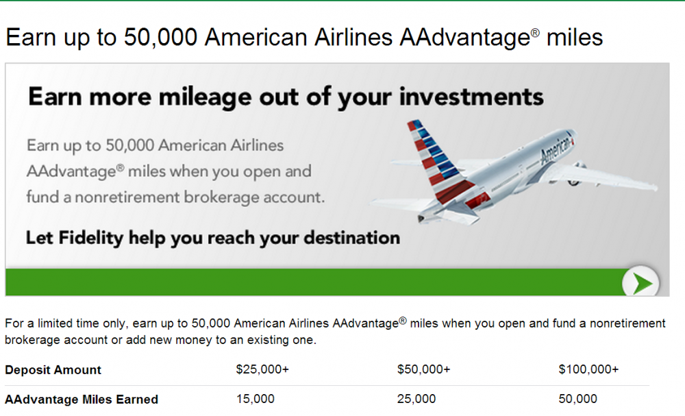Fidelity offering Up to 50,000 AA Miles - Saverocity Finance