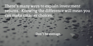 Understanding averages and investment returns