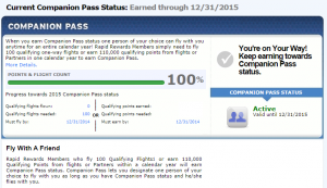 Southwest Companion Pass achieved!