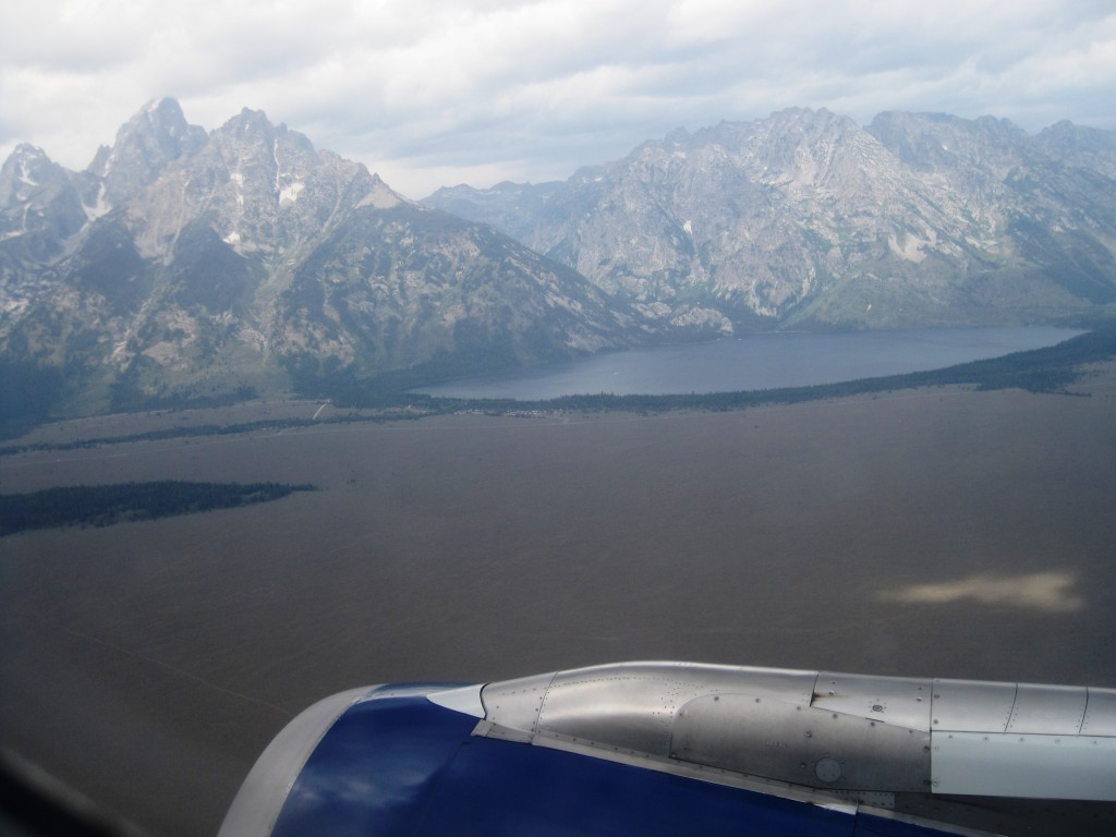 Approaching Jackson Hole from the North. Yellowstone National Park