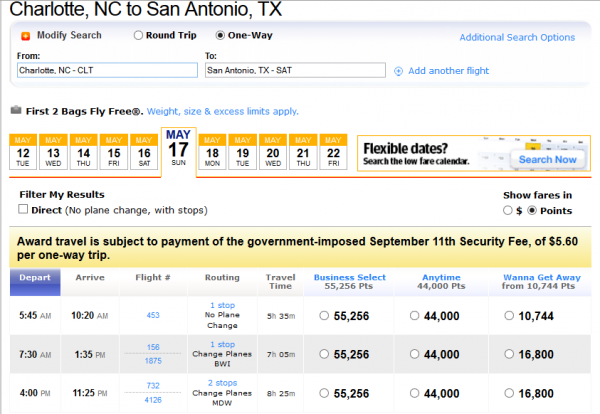 Routes for this ticket are awful - the last one routes through Chicago and Denver!