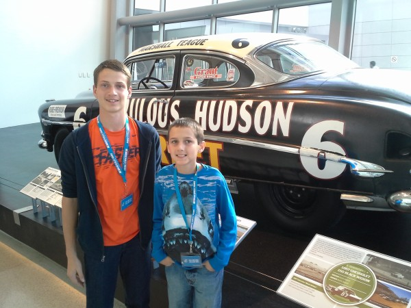 Our boys at the NASCAR Hall of Fame during the extra half day we had in Charlotte.