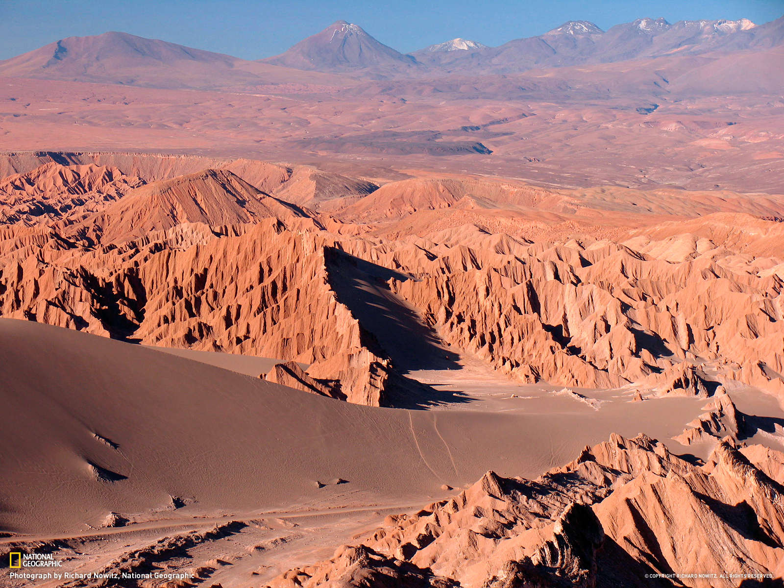 The Atacama desert in Norther Chile. CJC airport is nearby. Photo from National Geographic.